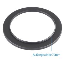 Step Up Ring 72-77 mm Reduzierring Adapterring Kompatibel...