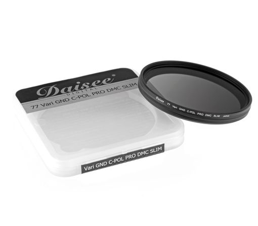 Daisee Variable ND-/CPL Filter 77mm, 8-fach vergütet Slim (Neu)